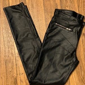 H&M Divided faux leather/pleather skinny pants NWT
